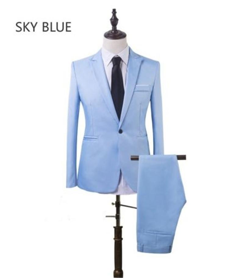 Жених смокинг GBWD Голубое небо S фото