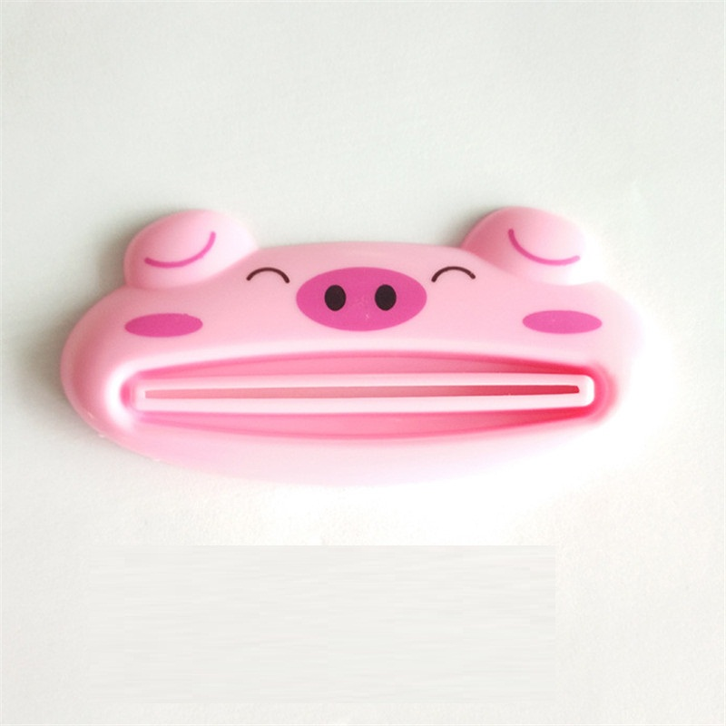 kangfeng Розовый 1 pcs cartoon animal toothpaste tube squeezer easy squeeze paste dispenser roll holder tslm1