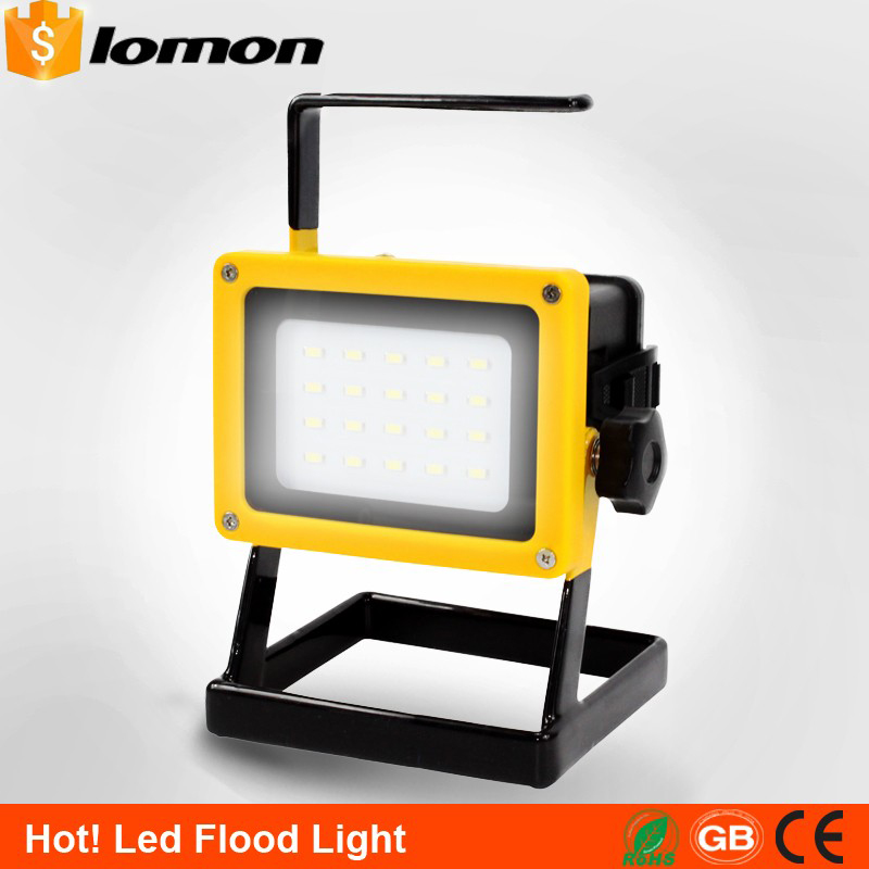 lomon золотистый 50m-100m 20w 2hours rechargeable led portable spotlight ac110 240v led outdoor emergency integrated floodlight
