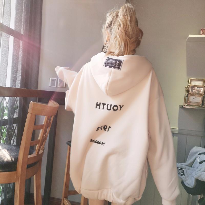 Женщины hoodieshoody толстовки толстовки письма печатные толстовки толстовки hoodies SAKAZY Бежевый XXL фото