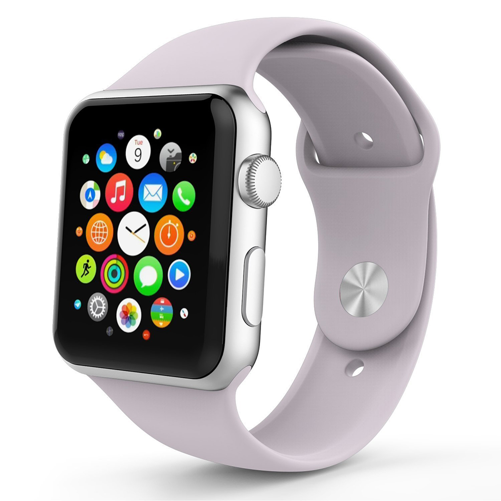 BRG прозрачный Светло-синий умные часы apple watch series 3 38mm grey space with black sport band mqkv2ru a