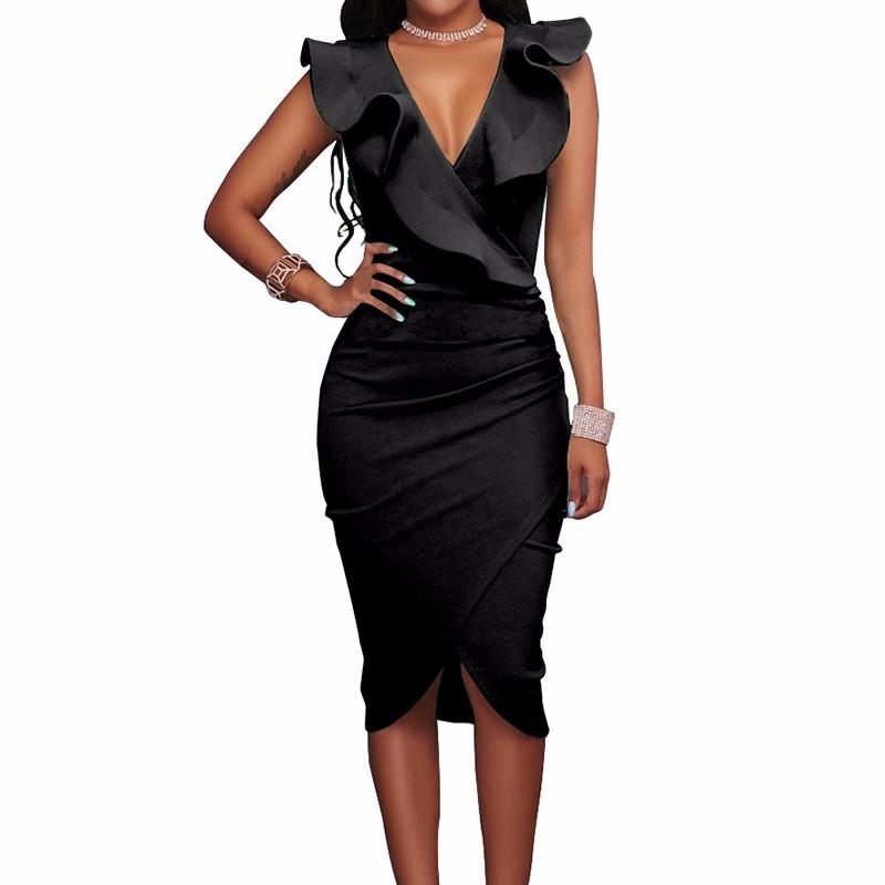 Платье платья выпускного вечера платья платья платья венчания платья выпускного вечера платья выпускного вечера SAKAZY черный XL фото