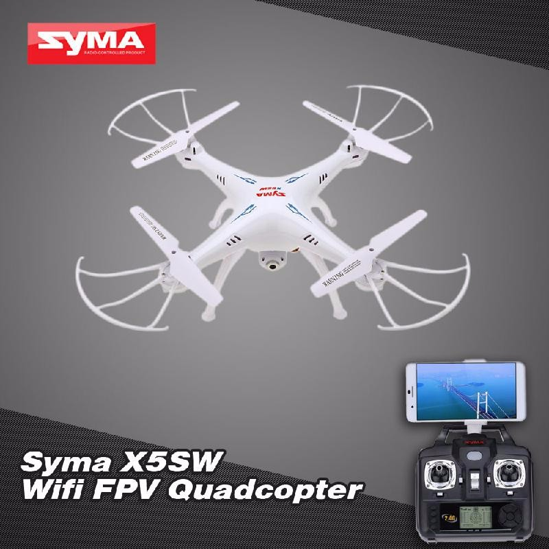 GoolRC White professional syma x5hw rc selfie drone with camera quadcopter wifi fpv transmission remote controll dron helicopter toys for boy