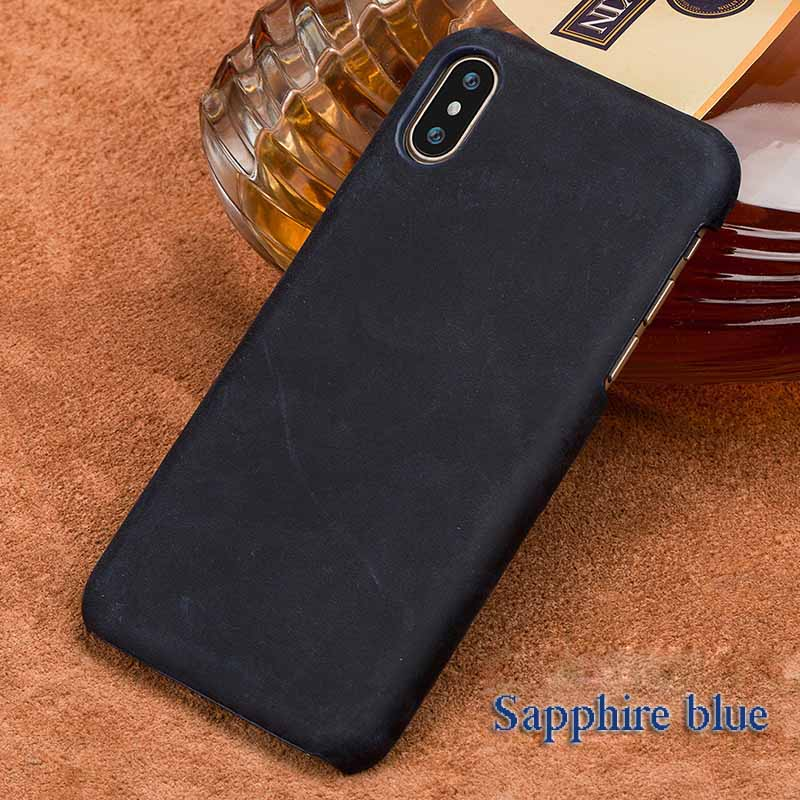 langsidi синий iPhone 6 6s чехол из натуральной кожи для iphone x case crazy horse leather back cover для 6 6s 7 8 plus case