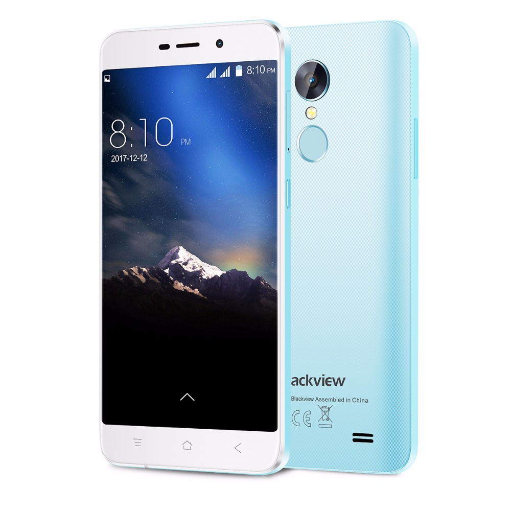 Blackview Blue Стандарт ЕС bluboo d1 3g smartphone 5 0 дюймовый android 7 0 mtk6580a quad core 1 3ghz 2gb ram 16gb rom сканер отпечатков пальцев двойные задние камеры