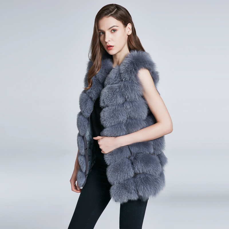 FURART Светло-серый L номер children real crystal fox fur coat 2018 new autumn winter girls boys natural fur coat clothing warm kids thicken jacket
