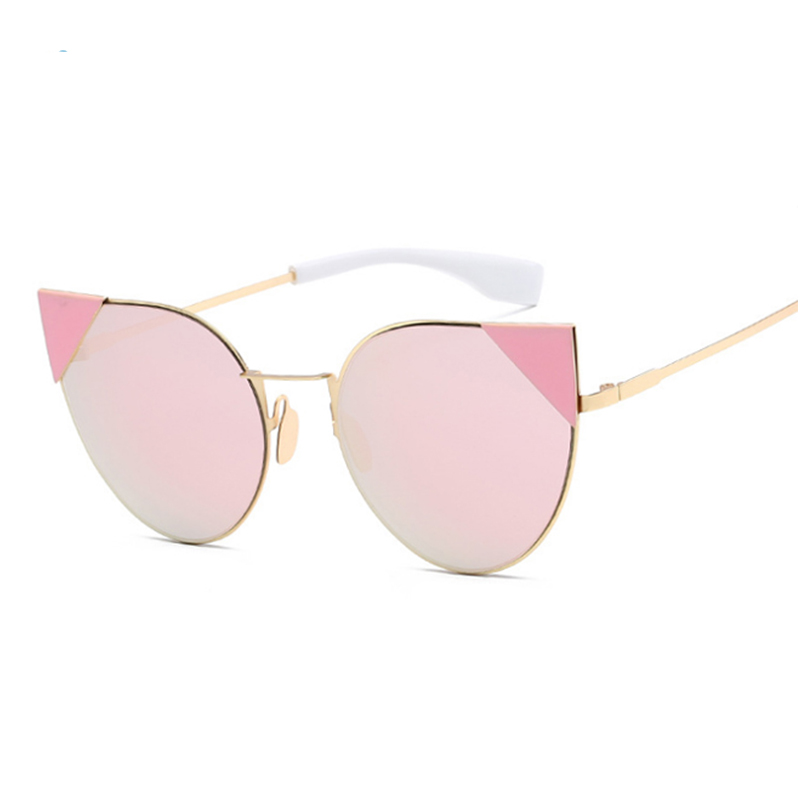 Sisjuly розовый Кошачий глаз 2016 women metal frame sexy cat eye sunglasses coating vintage sun glasses female oculos de grau femininos uv400