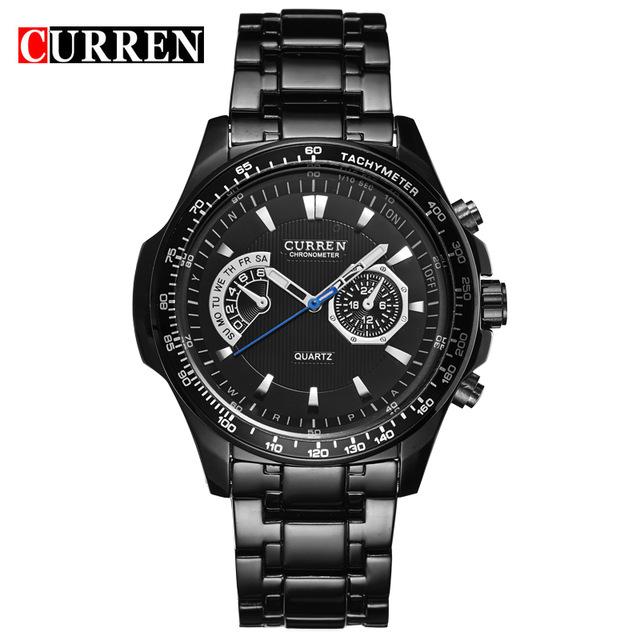 CURREN 04 curren quartz black vogue business military man men s watches 3atm waterproof dropship 8020 relogio