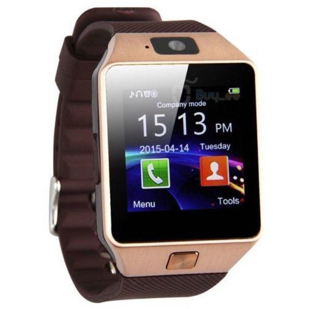 CANIS Золото dz09 bluetooth 3 0 smart watch phone mtk6260a