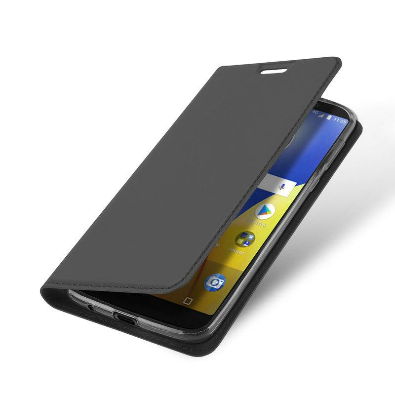 Для Motorola Moto E5 Plus для мобильного телефона Motorola Motion E5 для Motorola Moto E5 Plus для Moto E5 Кожаный чехол для кожи с кожаной крышкой Корпус WIERSS Серый для Motorola Moto E5 фото