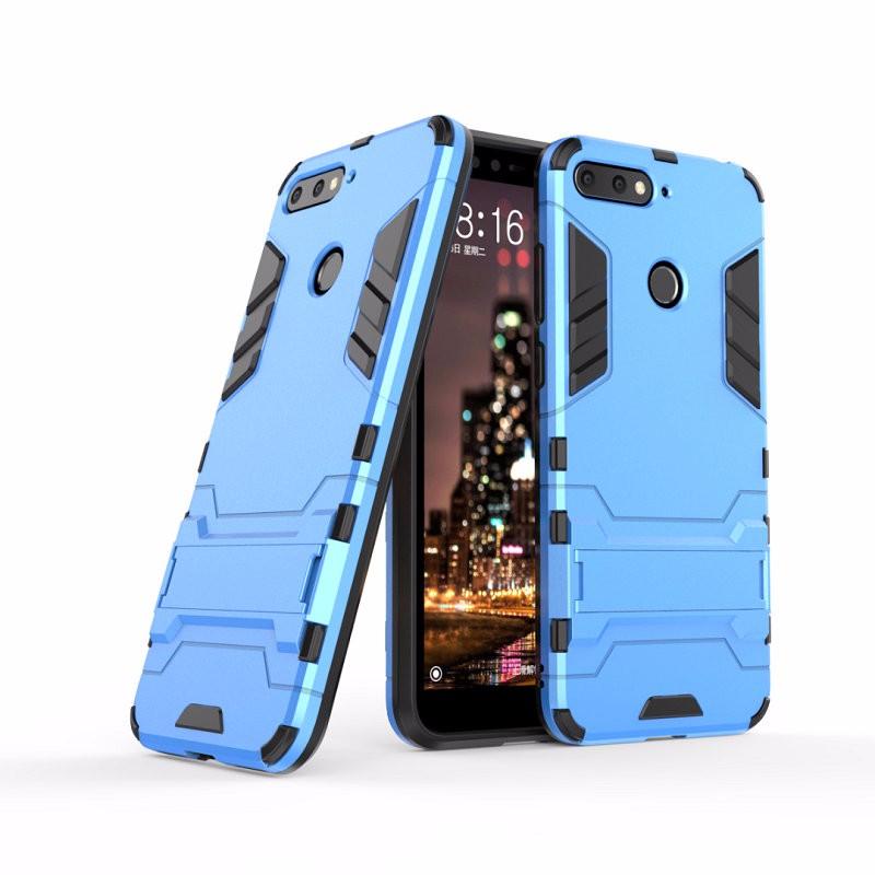 Ударопрочный жесткий чехол для телефона Huawei Honor 7A Pro AUM-L29 AUM-AL00 для чехла Huawei Honor 7A с жестким корпусом для Huawei Honor 7A Pro AUM-L29 AUM-AL00 Combo Armor Case Back Cover WIERSS синий для Huawei Honor 7A фото