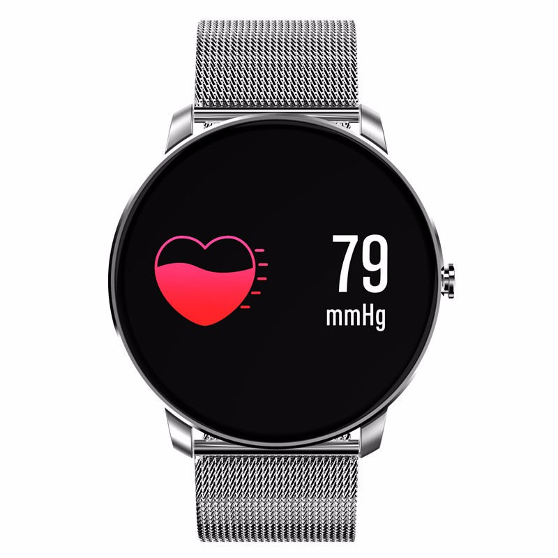 chkj Серебряный 42 мм id107 bluetooth smart wristband heart rate monitor watch