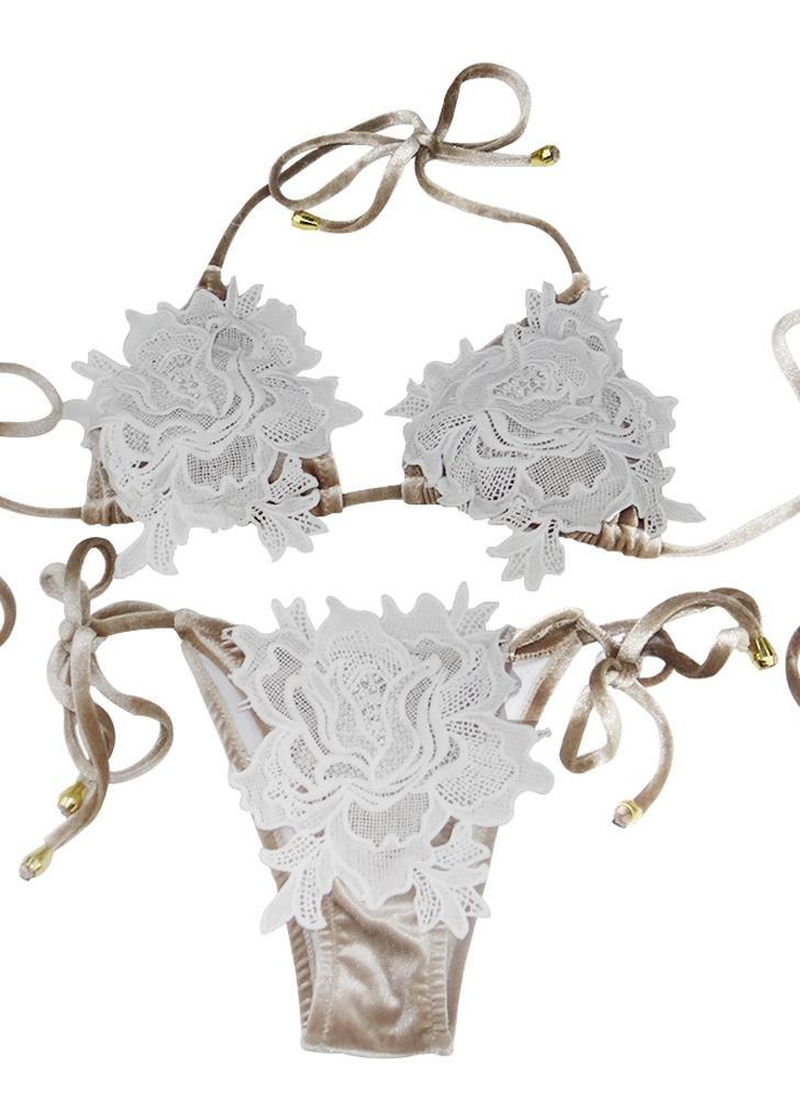 babyonline DRESS белый L малого женщин вязание крючком кружева с плеча белый комбинезон