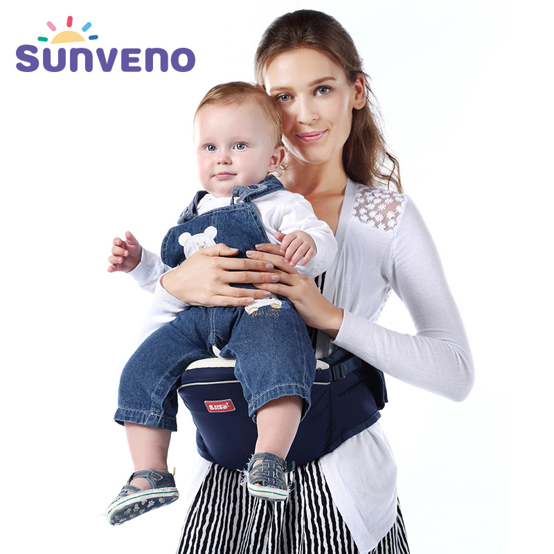 Blue baby hipseat four seasons breathable baby shoulder carrier cotton baby carrier infant backpack for kids toddler sling md bd08