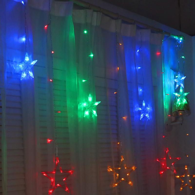 JULELYS Многоцветный 110V-130V julelys 7m 28 лампы гирлянды светодиодные огни украшение для свадьбы рождество gerlyanda festoon led ball string lights home room decor