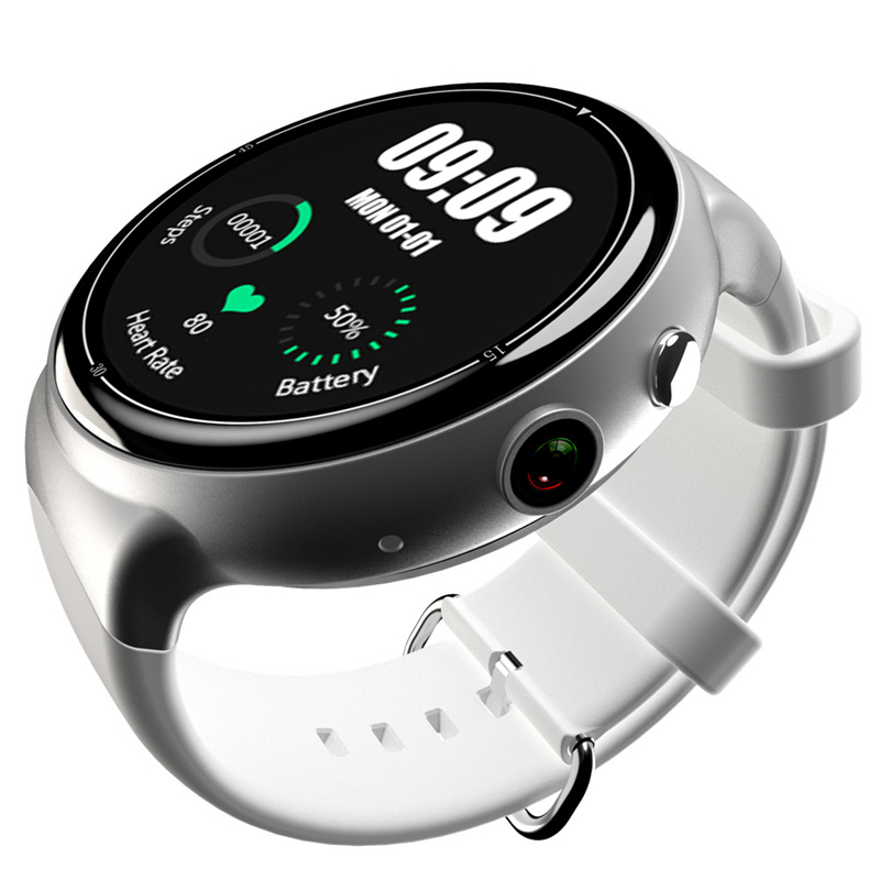 CHIGU белый 49 мм slimy s99a smart watch 3g resolution 360 360 mtk6580 android 5 1 os support nano sim card wifi gps heart rate monitor
