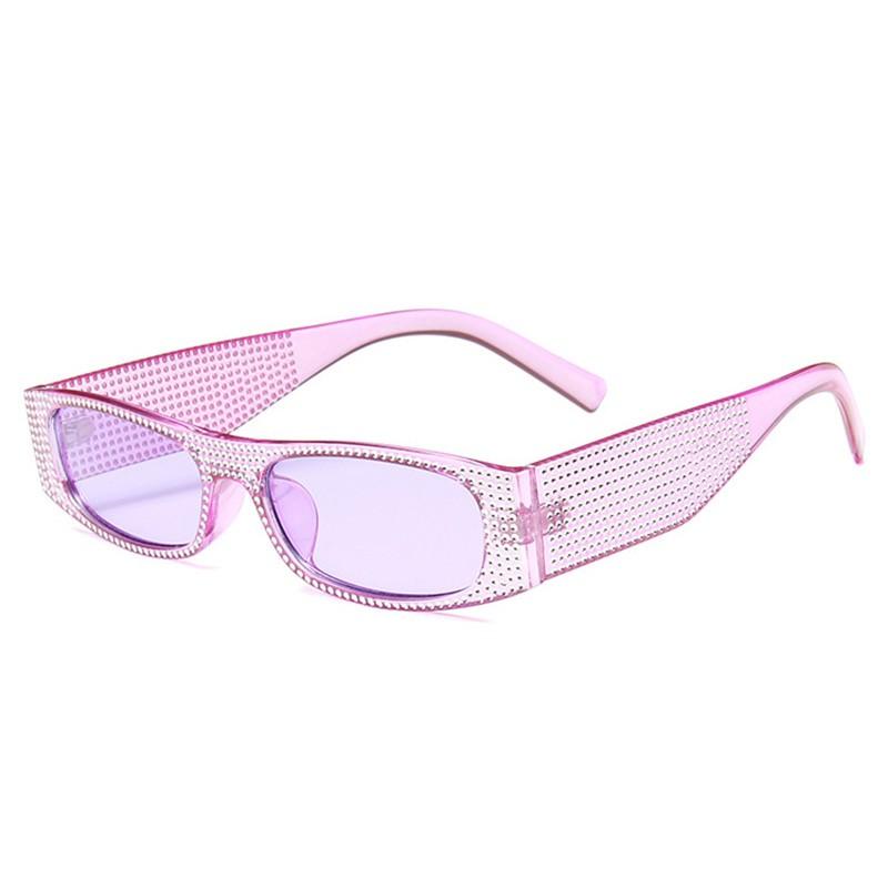 SHAUNA Очистить фиолетовый очки женские animal layback girls pink purple