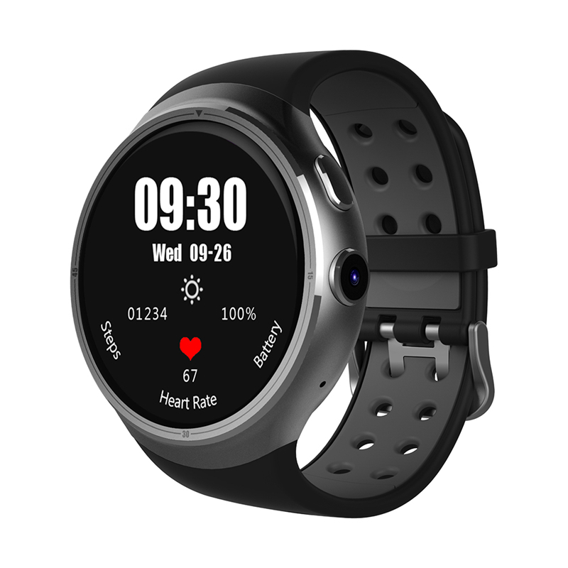 CHIGU черный 48 мм slimy s99a smart watch 3g resolution 360 360 mtk6580 android 5 1 os support nano sim card wifi gps heart rate monitor