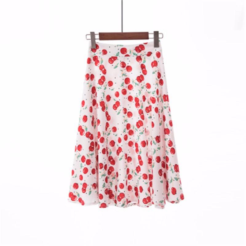 Юбка миди юбка эластичная талия высокая талия юбка юбка лето SAKAZY Глубокий серый S фото