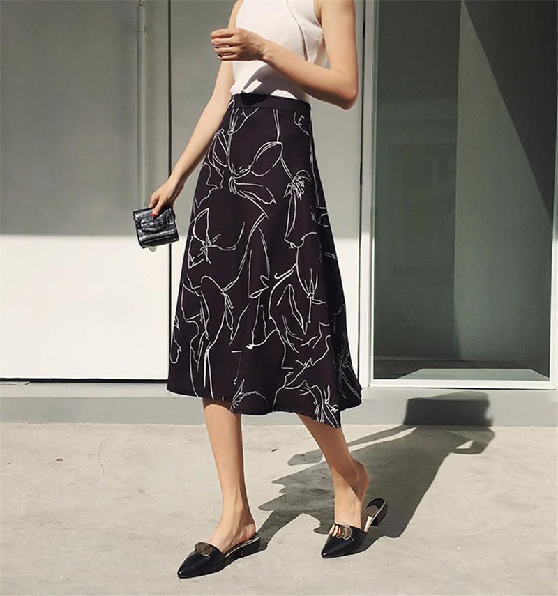 Юбка женская вечеринка юбка перспектива юбка лоскутное шитье юбка элегантная юбка SAKAZY черный L фото