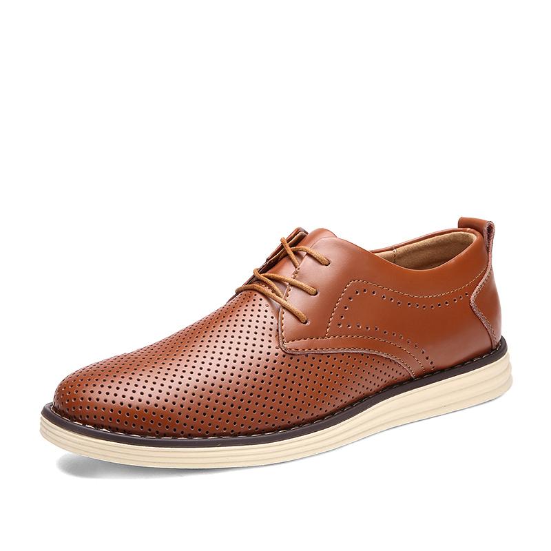 Мужская повседневная обувь Кожаные Dayocra коричневый 6,5 фото
