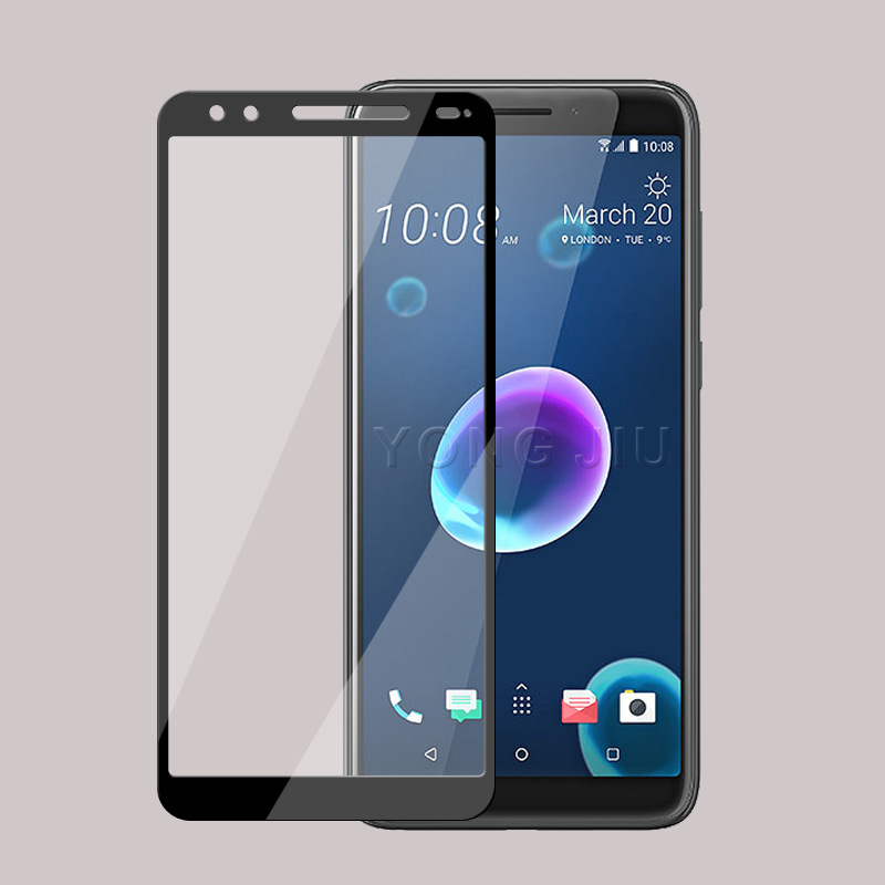 WIERSS черный для HTC Desire 12 Plus для HTC Desire 12 9H 25D полная крышка с закаленным стеклянным протектором экрана