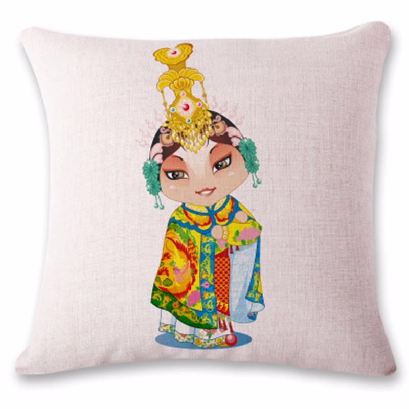 kangfeng Розовый цвет snowman cartoon christmas cushion throw pillow case