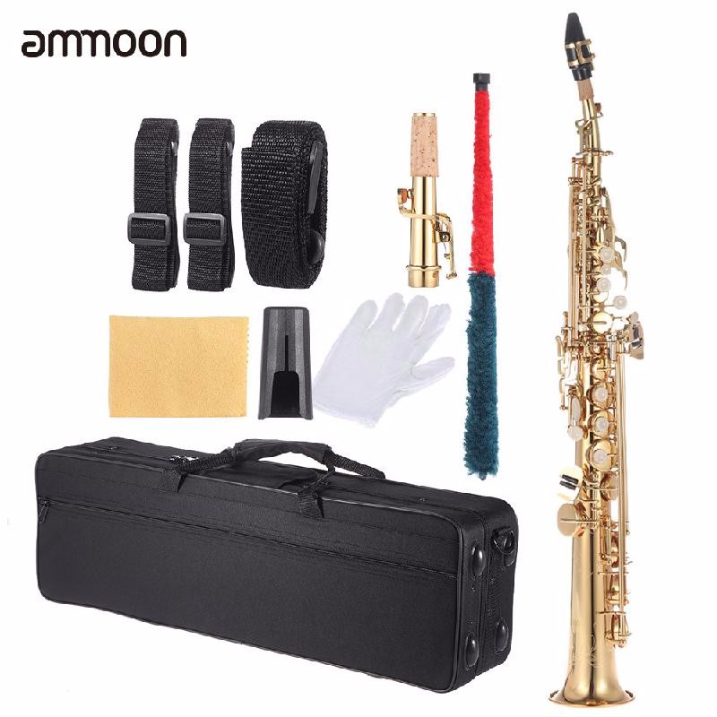 ammoon Золото free shipping ems genuine france selmer tenor saxophone r54 professional b black sax mouthpiece with case and accessories 9