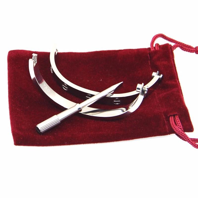 Colorful panda размер 16 серебристый мода ювелирные изделия медь мужчины и женщины любовь браслеты браслеты гвозди манжеты браслеты ювелирные изделия