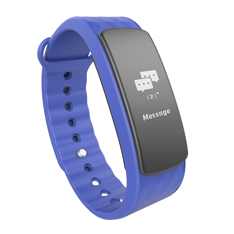 CHIGU синий Смарт-браслет id107 bluetooth smart wristband heart rate monitor watch