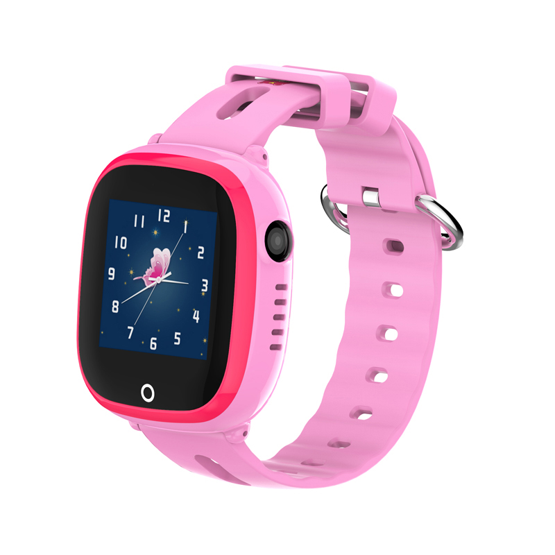 CHIGU Розовая русская версия 38мм children baby gps smart watch for kids safe q90 sim wifi touch screen sos call location tracker vibrate anti lost remote f27