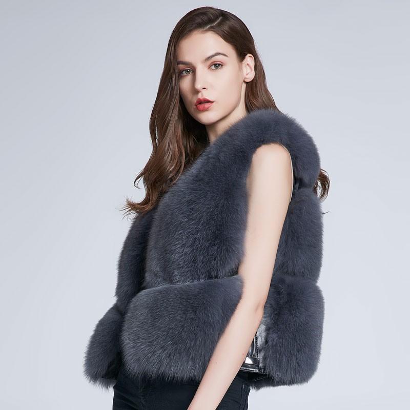 FURART серый M 2017 осень и зима новые перья хлопка жилет женщин в длинный жилет корейской версии цвета с капюшоном куртки куртки куртки