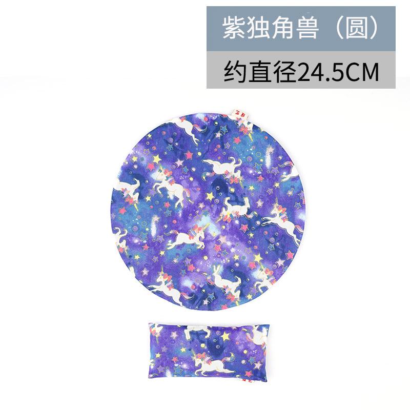 yuanyi Фиолетовый единорог - круговой рука съемные браслеты коврик для мыши его подушка клавиатура браслеты рука подушка запястье площадку браслеты коврик для мыши