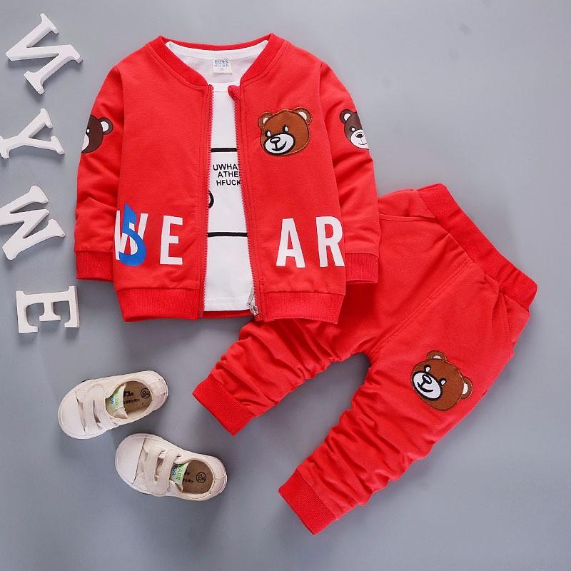 yuyaobaby Red 12M children clothing set kids girl clothes 2016 girls sets brand floral dobby kids tracksuit jacket dress girls clothing sets