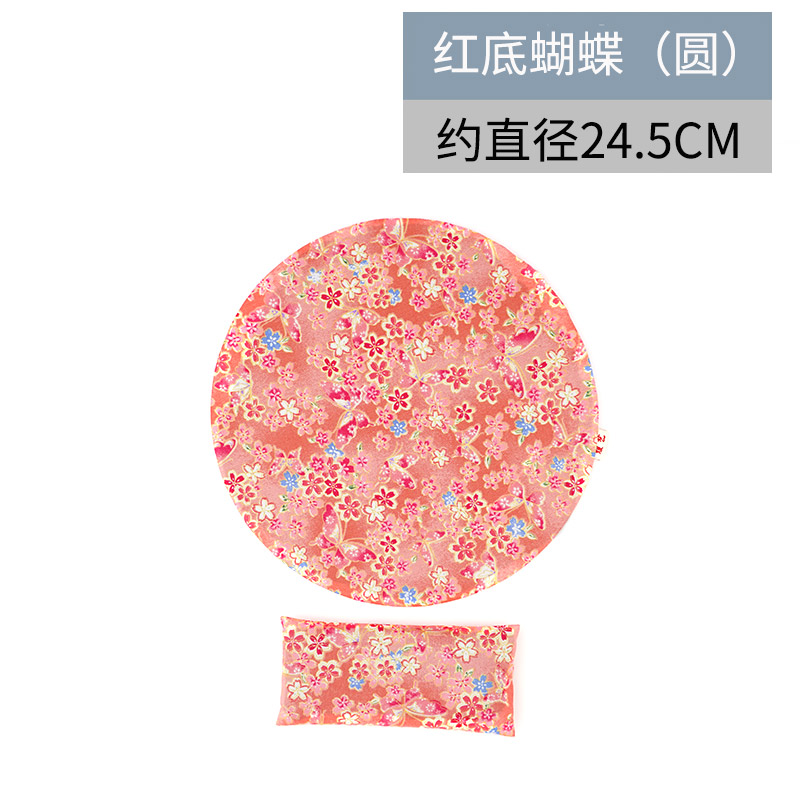 yuanyi Красная бабочка-круглая рука съемные браслеты коврик для мыши его подушка клавиатура браслеты рука подушка запястье площадку браслеты коврик для мыши
