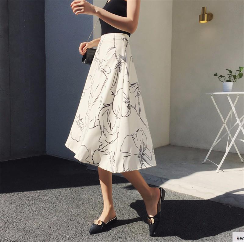 Юбка женская вечеринка юбка перспектива юбка лоскутное шитье юбка элегантная юбка SAKAZY белый M фото