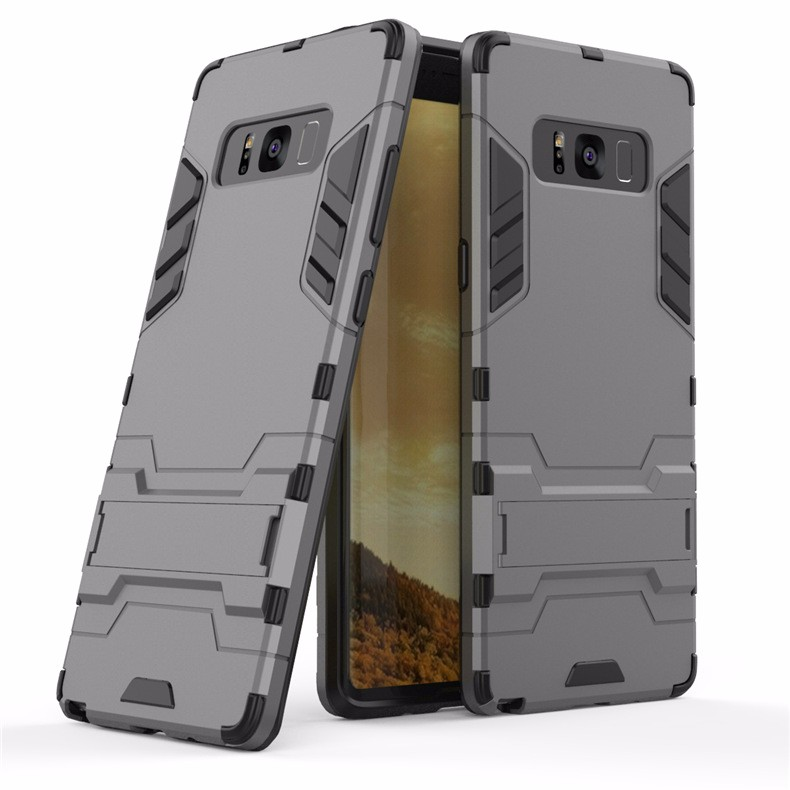 WIERSS Серый для Samsung Galaxy Note8 Shockproof Hard Phone Case для Samsung Galaxy Note8 Примечание 8 SM-N950 N9508 N9500