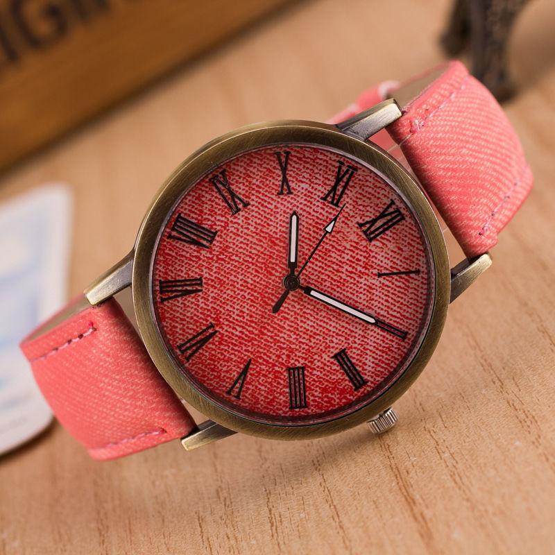 Кожаный наручные часы наручные часы наручные часы наручные часы наручные часы наручные часы наручные часы наручные CANIS Розовый фото