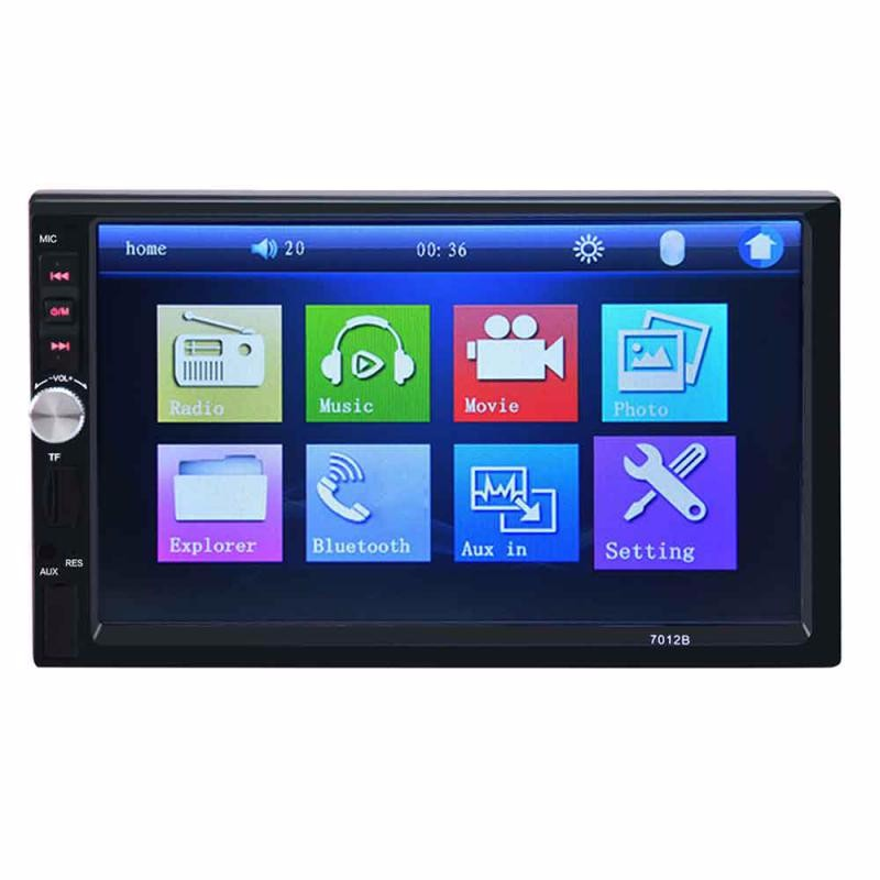 GBTIGER Black 2015 new support rear camera car stereo mp3 mp4 player 12v car audio video mp5 bluetooth hands free usb tft mmc remote control