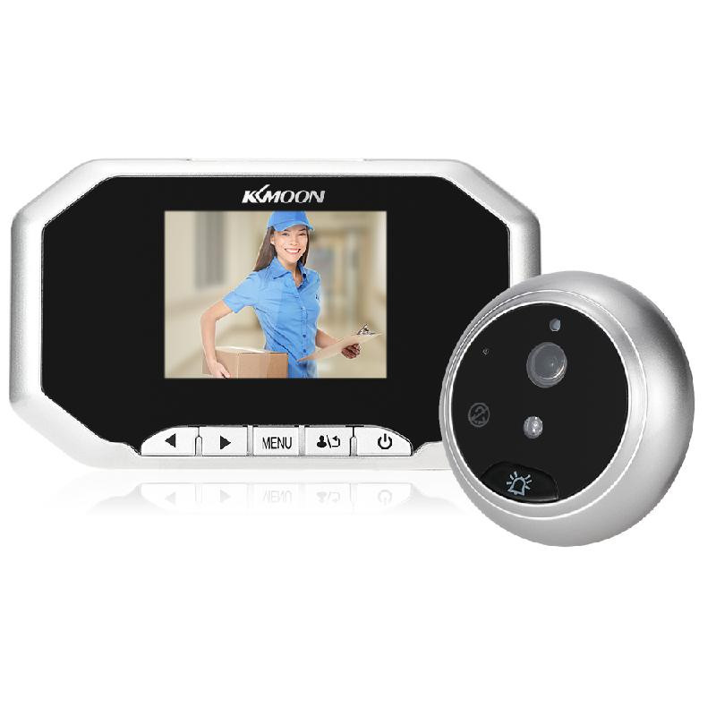 dodocool Серебристый 3 5inch lcd digital peephole viewer 120 degrees doorbell door eye ir camera p20
