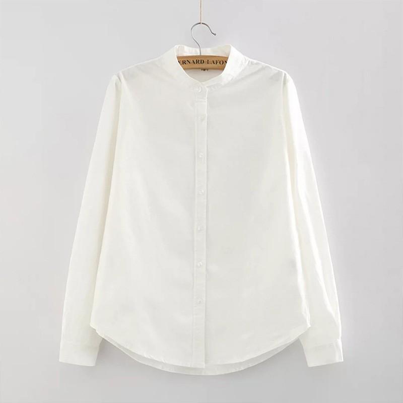 Jiesenlang белый XL йемен весна и осень рубашка женская рубашка шифон круглый воротник рубашки 8510110638 белый xl