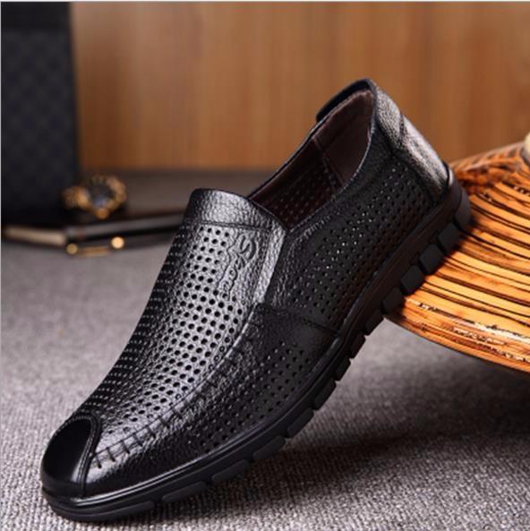 oye черный Полый 2 41 Кожаные туфли из натуральной кожи из кожи коровы