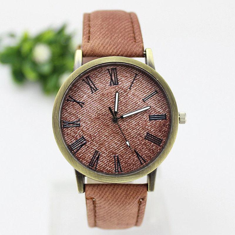 Кожаный наручные часы наручные часы наручные часы наручные часы наручные часы наручные часы наручные часы наручные CANIS Светло-коричневый фото
