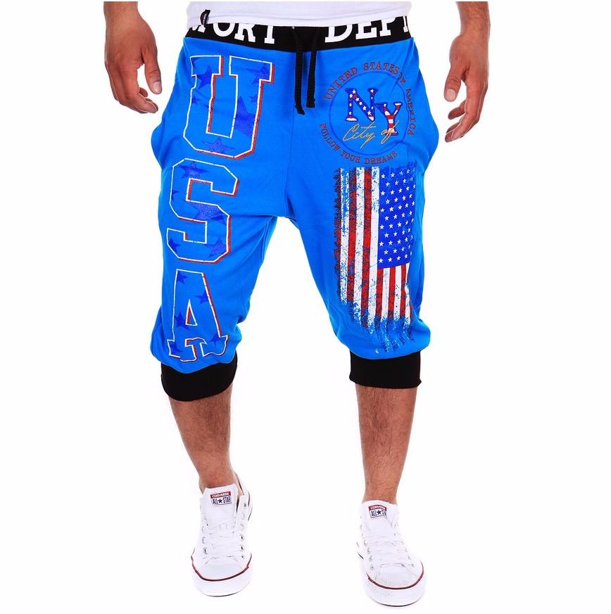 Gymshort menssportscloting чистого хлопка шорты спортивные штаны Xuanxuan diary Синий цвет XXS фото
