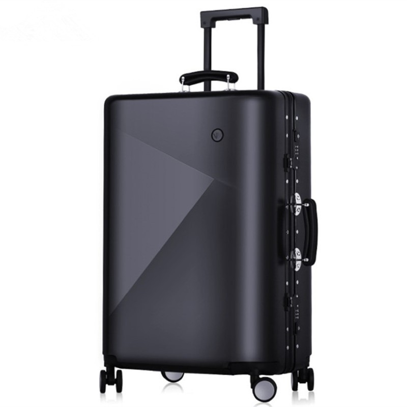 Earth tell черный 20 дюймов letrend rolling luggage spinner suitcase wheels trolley women travel bag 20 inch student carry on password hardside trunk men