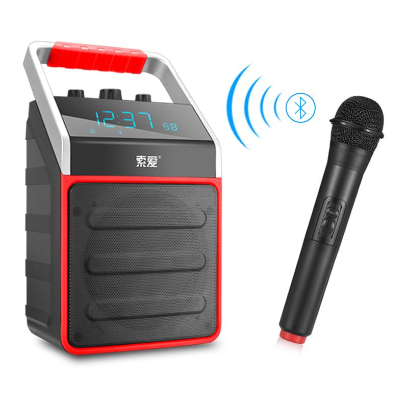 JD Коллекция Китайский Красный Версия для беспроводного микрофона soaiy saaiy sa 115 улучшен аудио аудио аудио домашний кинотеатр беспроводной bluetooth эхо стена soundbar audio