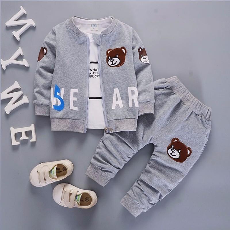 yuyaobaby Grey 5T children clothing set kids girl clothes 2016 girls sets brand floral dobby kids tracksuit jacket dress girls clothing sets