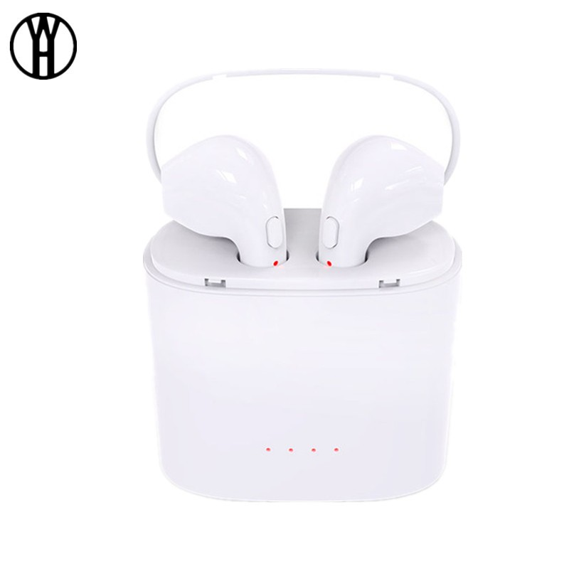 WH Белый mini twins bluetooth earphone airpods true tws wireless stereo headset earbuds with mic charge box for iphone samsung xiaomi