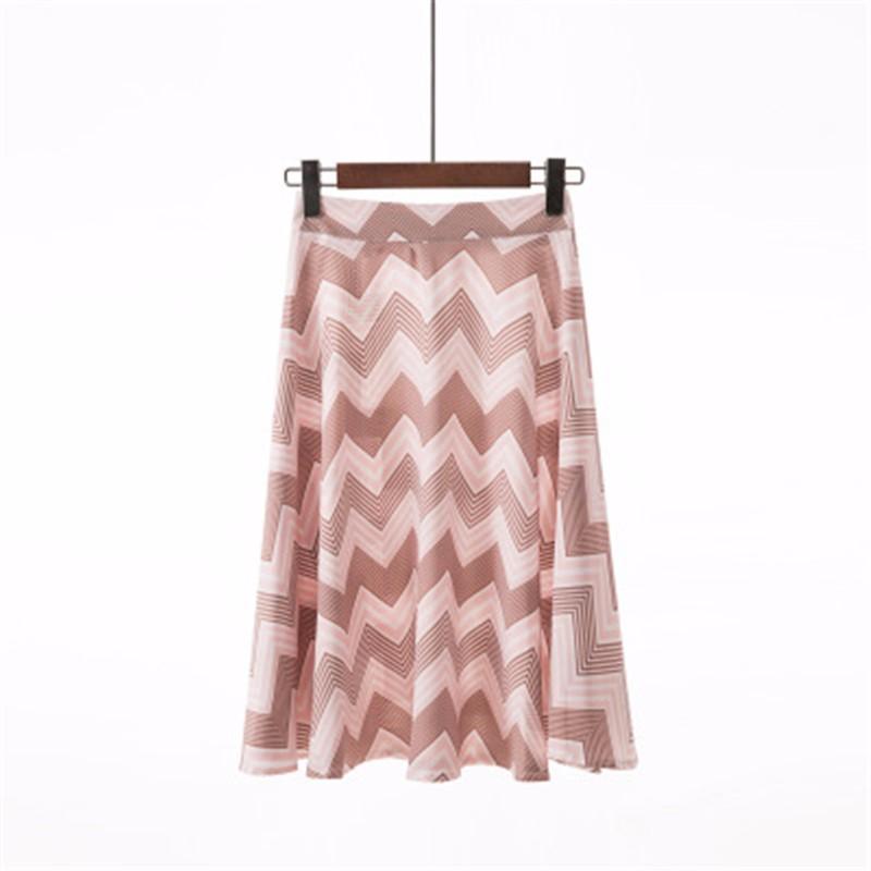 Юбка миди юбка эластичная талия высокая талия юбка юбка лето SAKAZY оранжевый L фото