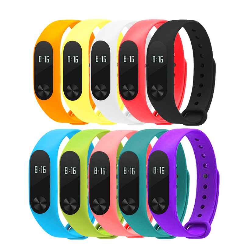SANDN Yellow tpu anti off wristband for xiaomi mi band 2